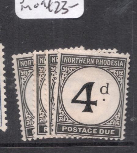 Northern Rhodesia Postage Due SG D1-4 MOG (5dia)