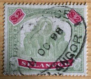MALAYA 1897 SELANGOR Elephants & Howdah $2 Used SG#62 M2892
