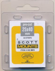 Prinz Scott Stamp Mount Size 25/40 mm BLACK (Pack of 40) (25x40 25 mm) PRECUT