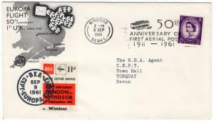 (I.B) Cinderella Collection : BEA Air Letter Service 11d (Europa 1961)