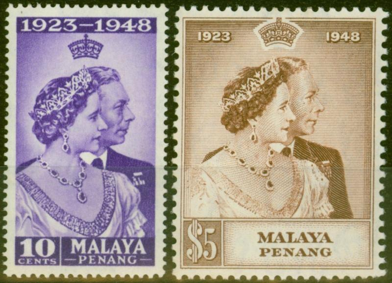 Penang 1948 RSW set of 2 SG1-2 Fine Lightly Mtd Mint