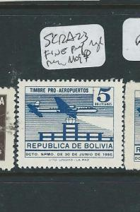 BOLIVIA (P2701B) SC RA23 FINE PERF AND ROUGH PERF  MOG