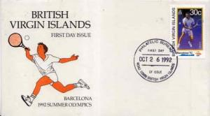 British Virgin Islands, First Day Cover, Sports
