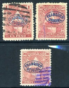 Nicaragua 1898 ⭐ Seebeck ⭐ Officials ⭐ Unwatermarked ⭐ Used ⭐ O370 ⭐☀⭐☀⭐☀⭐