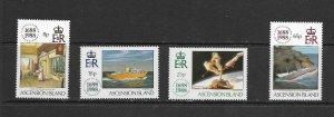 ASCENSION ISLAND - 1988 LLOYDS OF LONDON ANNIVERSARY - SCOTT 454 TO 457 - MNH