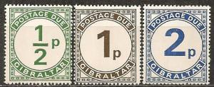 Gibraltar #J4-6 Mint Never Hinged VF CV $1.60 (A9615)