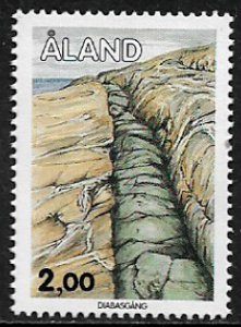 Finland - Aland Is #45 MNH Stamp - Geological Formations