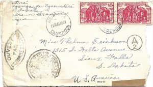 Doyle's_Stamps: French Cameroun Postal History - World War II Era Cover/Usage