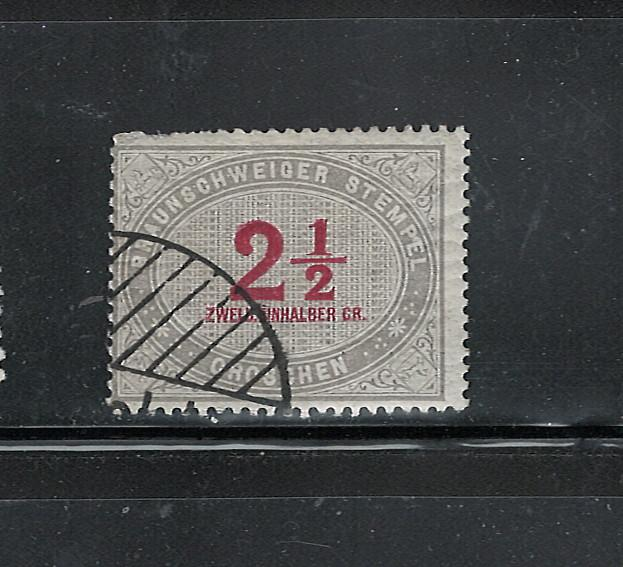 GERMANY STATES : BRAUNSCHWEIDER STATE STEMPEL C.T.O???or just MH??