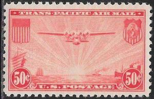 US C22 MNH - The China Clipper over the Pacific