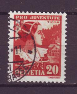 J17361 JLstamps 1934 switzerland parts of set used #b71 woman