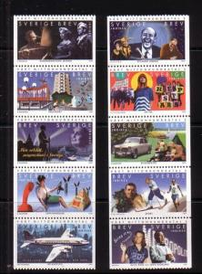 Sweden Sc 2327-36 1999 Millennium stamp set mint NH