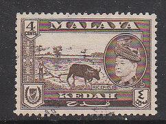 Malaya Kedah 1957 Sc 85 4c Used
