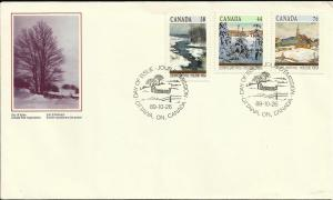 Canada Christmas 1980 Scott# 870-72 complete set FDC