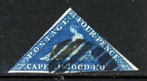 CAPE OF GOOD HOPE 1863-4 Four Pence Blue DLR Printing Wmk Anchor SG 19a VFU