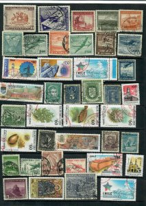 CHILE  MIXTURE  x38 ALL DIFFERENT   USED LOT A