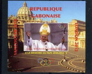 GABON 2009 Pope John Paul II Memory Deluxe s/s Mint (NH) VF #1