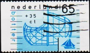 Netherlands. 1989 65c+35c. S.G.1553 Fine Used