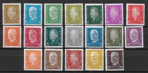Germany 366-84 Men set Unused Lightly Hinged
