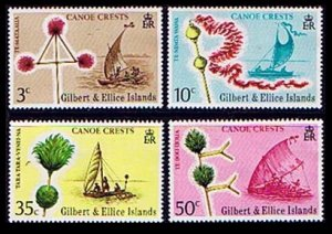1974 Gilbert and Ellis Islands 217-220 Ships with sails