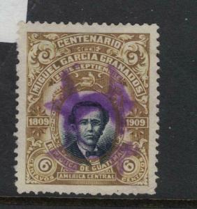 Guatemala 1909 6c Purple Fancy Cancel VFU (7dwo)