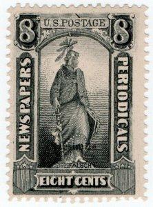 (I.B) US Postal Service : Newspapers & Periodicals Stamp 8c