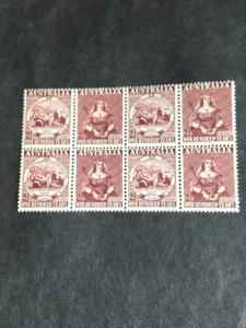 Australia 2015 Scott #229a Mint Se-Tenant Block of Eight Centennial of Stamp