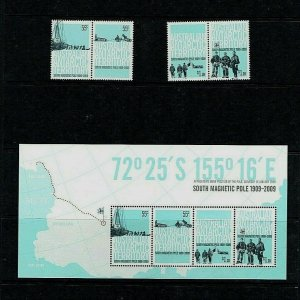 AAT: 2009, Centenary 1st Expedition to Magnetic S. Pole,  MNH set + M/sheet