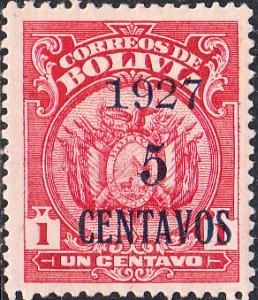 Bolivia  #160  MH  NR