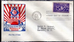 MALACK 855 cover, FDC, color cachet, nice eye appeal w3774