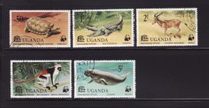 Uganda 176-180 Set U Animals