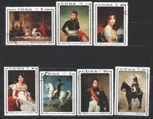 Cuba. 1969. 1494-1500. Napoleon in painting. USED.