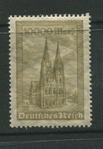 Germany -Scott 238 - Definitive Issues -1923 -  MLH - Single 10,000m Stamp