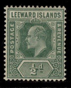 LEEWARD ISLANDS SG37, ½d dull green, M MINT.