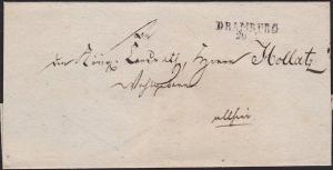 POLAND c1850 cover - folded wrapper ex DRAMBURG.............................1549