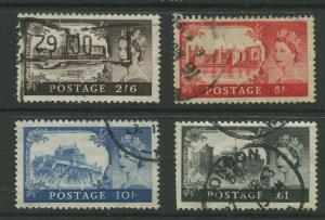Great Britain #371-374 FU  1959  Set of 4 Stamps