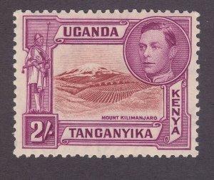 Kenya Uganda & Tanzania 81a MNH 1944 2sh Red Violet & Orange Perf 13 Scv $110