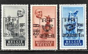 Belgium Scott 396-98  F to VF mint OG HHR.