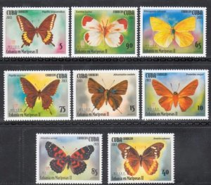 CUBA Sc# 5400-5407  BUTTERFLIES butterfly CPL SET of 8  MNH mint