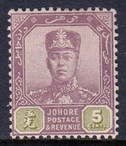 Malaya (Johore) - Scott #63 - MH - SCV $2.50