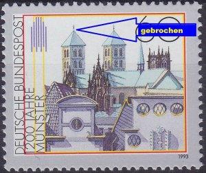 GERMANY BUND [1992] MiNr 1645 F37 ( **/mnh ) Plattenfehler