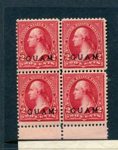 Guam Scott 2a Overprint  Color Shade Mint Block of 4 Stamps NH(G2-45)