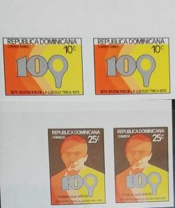 O) 1979 DOMINICAN REPUBLIC, IMPERFORATE. ENERGY, THOMAS A. EDISON, INVENTION OF