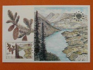 lake mountains national park European Found for Nature maximum card Yugoslavia