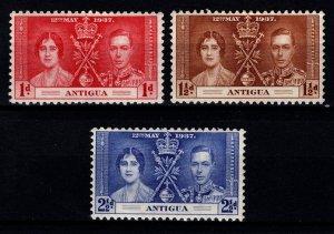 Antigua 1937 George VI Coronation Set [Unused]
