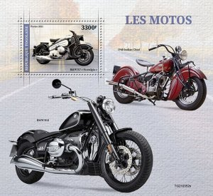 TOGO - 2021 - Motor Cycles - Perf Souv Sheet - Mint Never Hinged