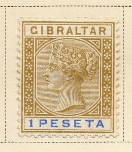 Gibraltar 1895 Early Issue Fine Mint Hinged 1P. 326914