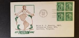 1943 Washington DC to Vestal New York First Day Illustrated Cachet Staehle Cover