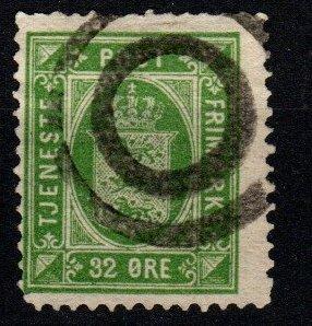 Denmark #O9  F-VF Used CV $30.00 (X8946)