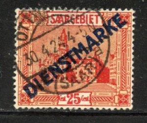 Saar # O8, Used. CV $ 1.20